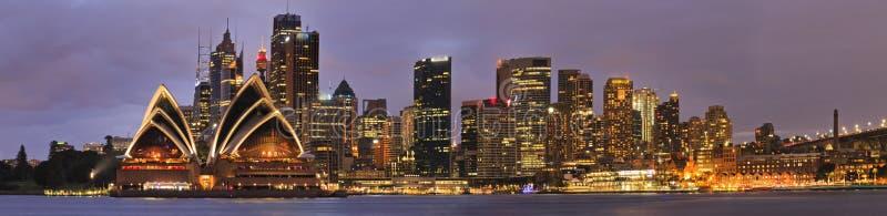 Het Panoramareeks van Sydney CBD Kiribilli stock afbeeldingen