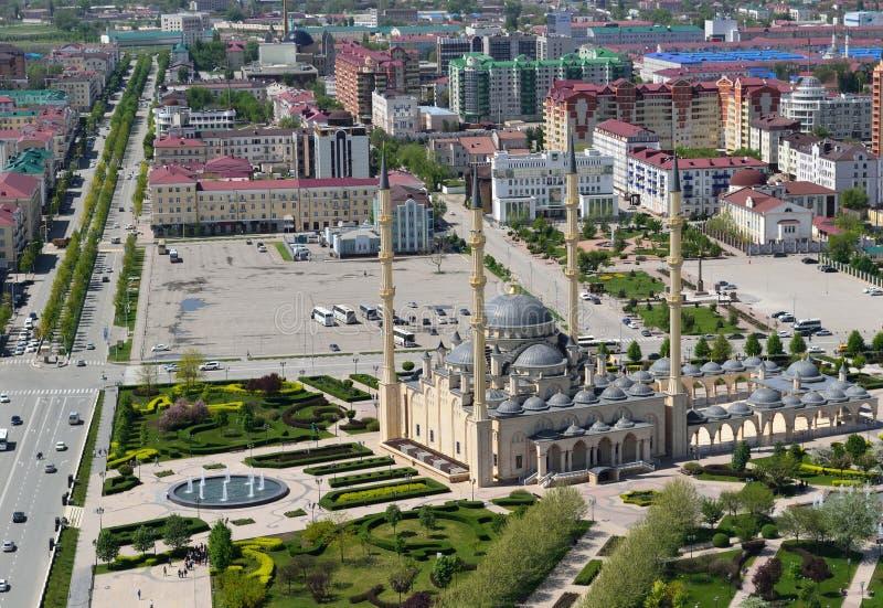 Het panoramische gezicht van Grozny stock foto's