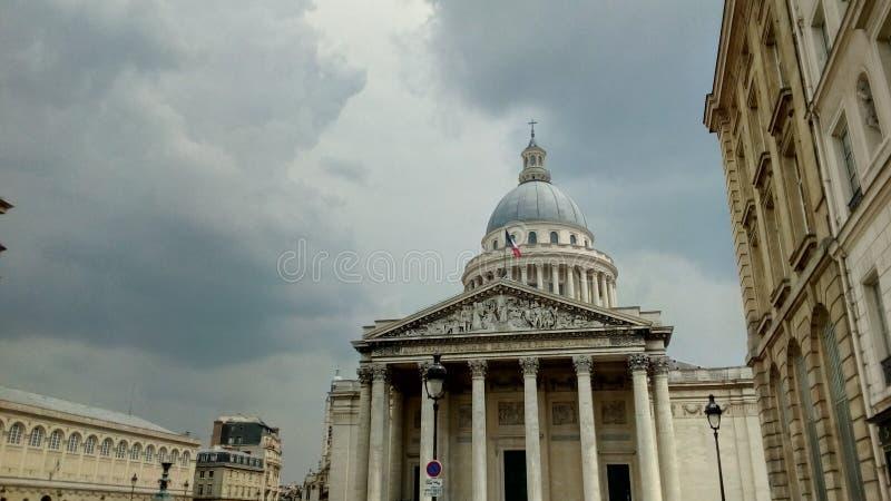 Het Pantheon in de stad van Parijs, Frankrijk stock afbeelding