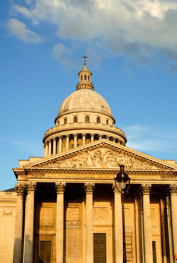 Het pantheon in Parijs Frankrijk stock fotografie