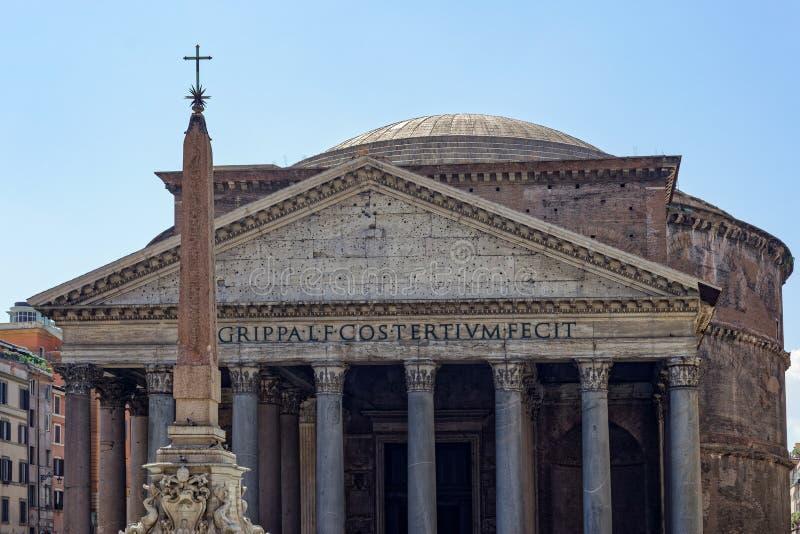 Het Pantheon in Rome stock foto