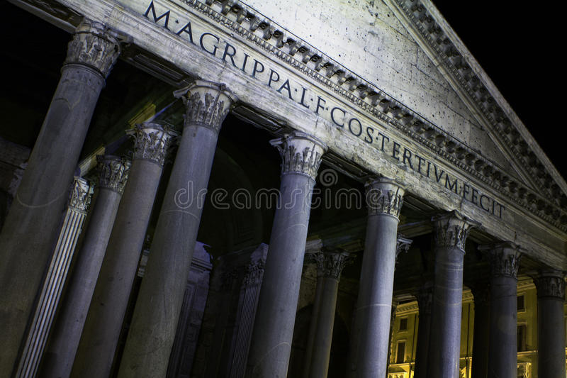 Het pantheon, Rome, Italië stock foto's