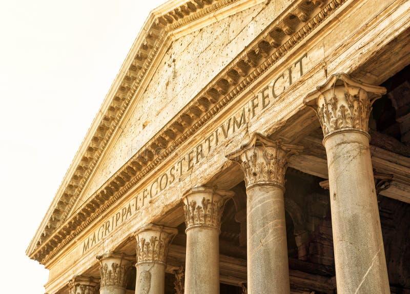 Het pantheon, Rome, Italië royalty-vrije stock foto