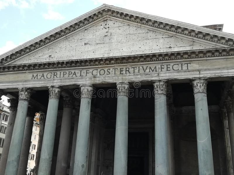 Het Pantheon van Agrippa in Rome, Italië royalty-vrije stock afbeelding