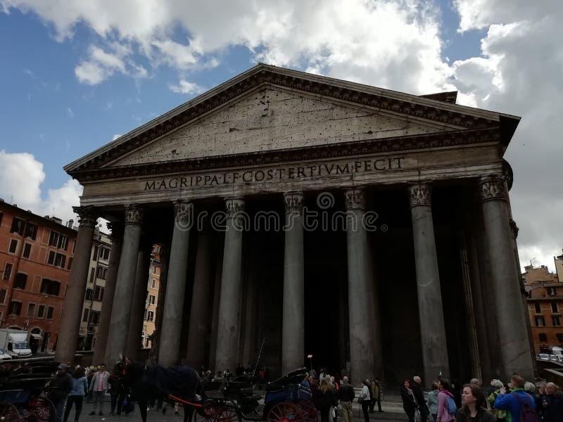 Het Pantheon van Agrippa in Rome, Italië stock foto's