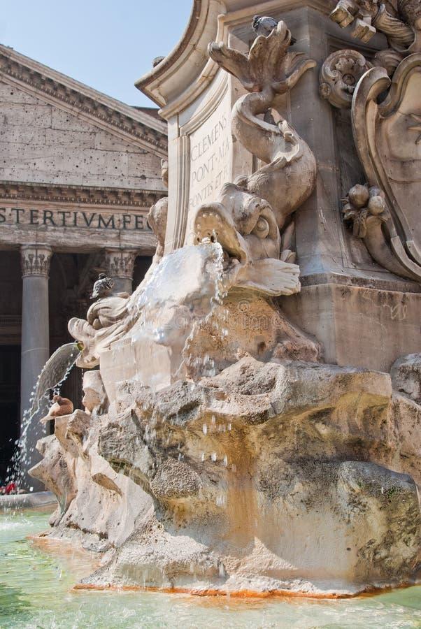 Het Pantheon van DE Fontana del stock fotografie