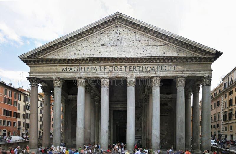 Het Pantheon van Rome stock fotografie