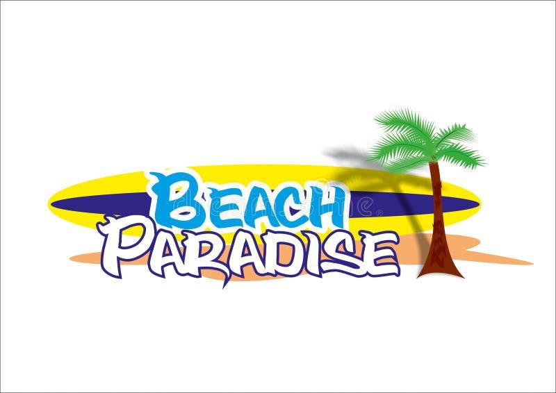 Het paradijsembleem van de strandbar stock afbeeldingen