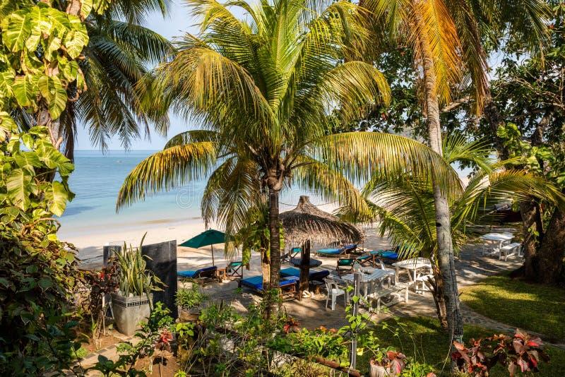 Het paradijsstrand in Bemoeiziek is, Madagascar stock afbeelding