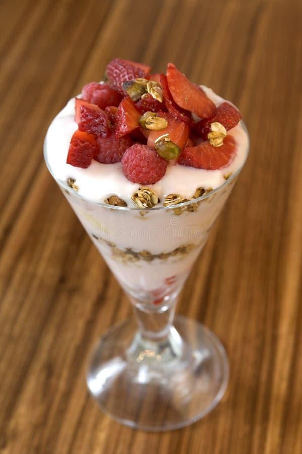Het Parfait van de yoghurt stock fotografie