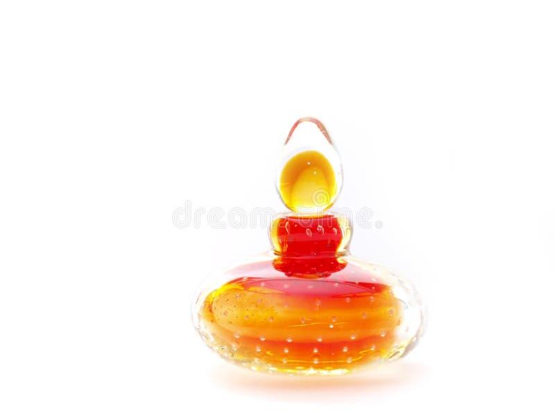 Het parfumfles van het glas stock afbeelding