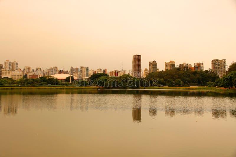 Het gelijk maken in het Park Ibirapuera in Sao Paulo stock afbeelding