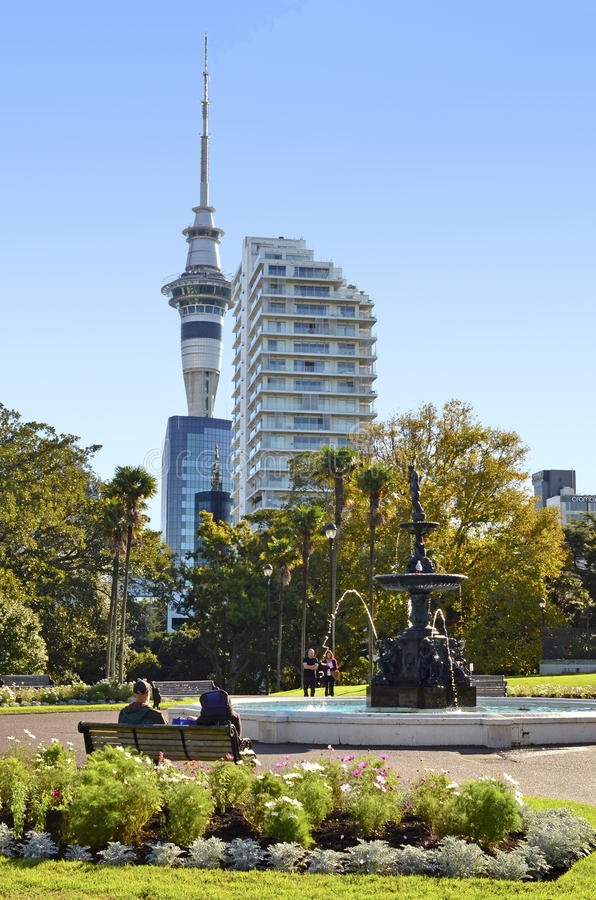 Het park van Albert Auckland - Nieuw Zeeland stock afbeelding