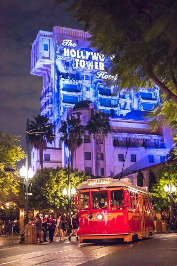 Het Park van het het Avonturenthema van Californië van Walt Disney Company in Anaheim stock afbeelding