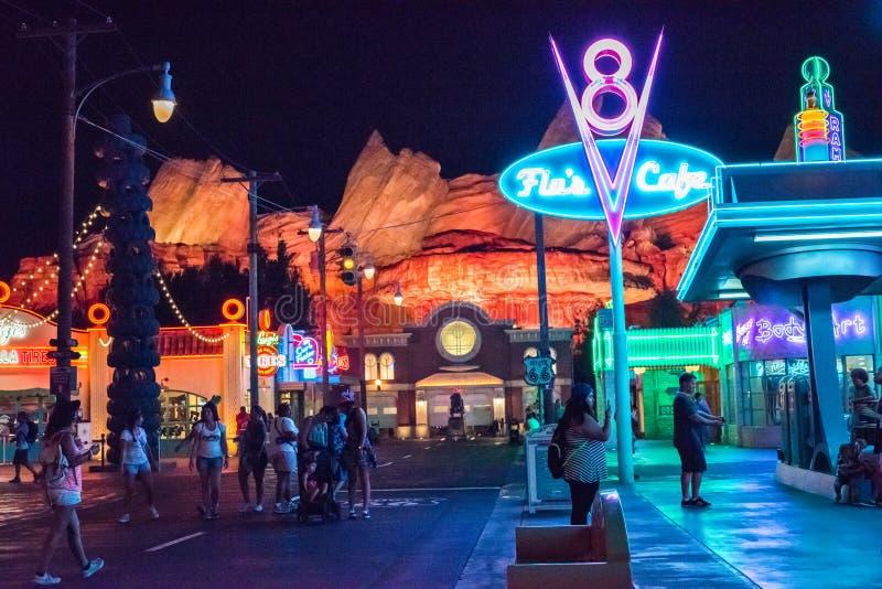 Het Park van het het Avonturenthema van Californië van Walt Disney Company in Anaheim stock fotografie