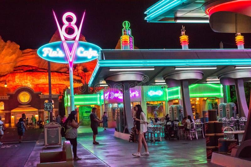 Het Park van het het Avonturenthema van Californië van Walt Disney Company in Anaheim royalty-vrije stock afbeeldingen