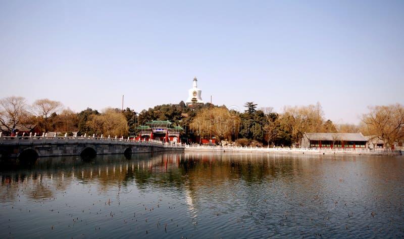Het Park van Beihai (Peking) stock foto