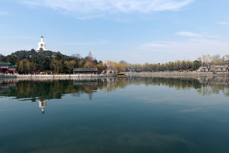 Het Park van Beihai in Peking China royalty-vrije stock afbeeldingen