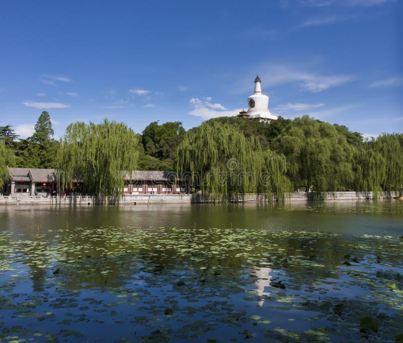 Het park van Beihai in Peking, China stock afbeeldingen