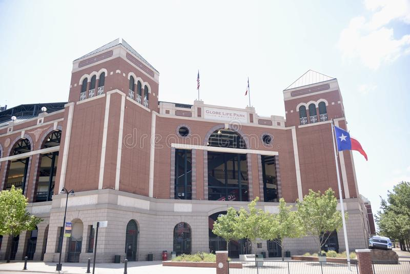 Het Park van het bolleven in Arlington, Texas Rangers Stadium royalty-vrije stock foto's