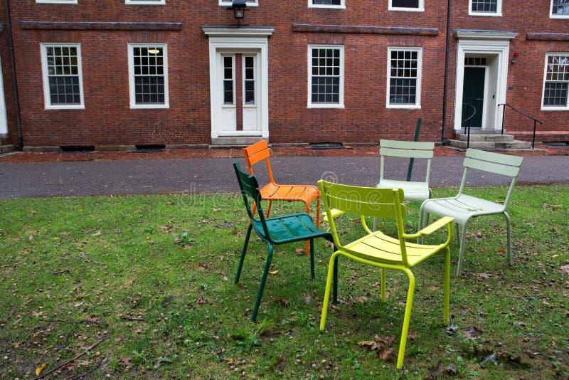 Het park van Cambridge op de universiteit royalty-vrije stock afbeelding
