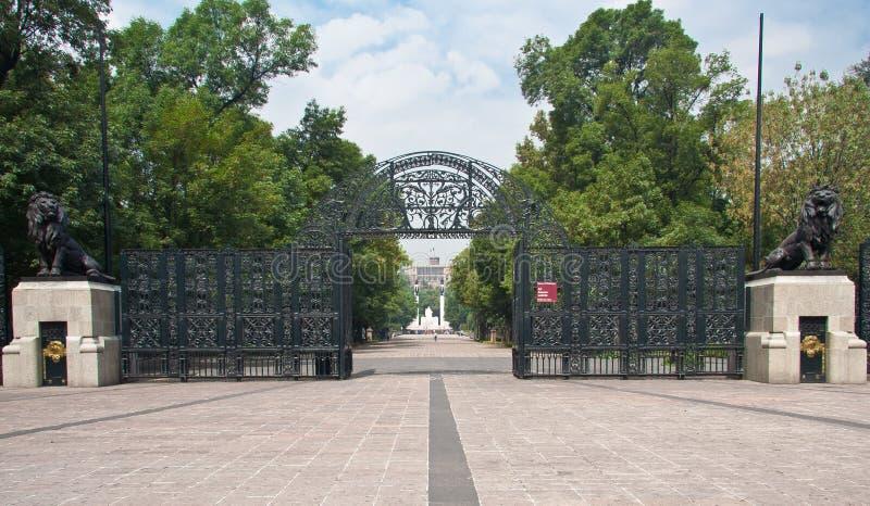 Het Park van Chapultepec in Mexico-City stock foto