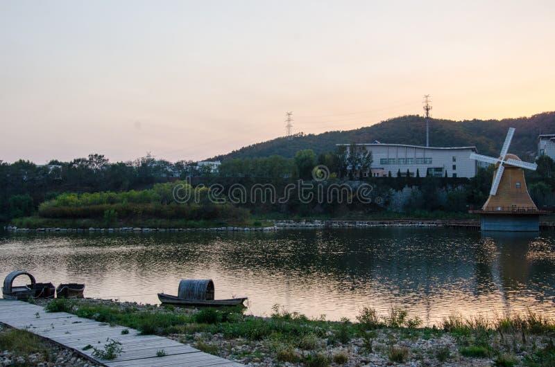 Het Park van Dalianxishanhu stock foto's