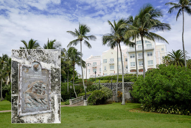 Het Park van de Barrsbaai - Hamilton, de Bermudas - Unesco-Slaaf Route Project royalty-vrije stock afbeelding