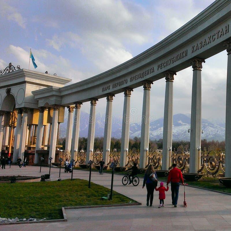 Het park van de Eerste Voorzitter van Kazachstan stock fotografie