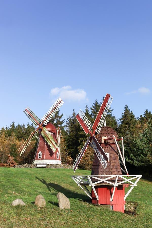 Het park van de Frederikshabwindmolen stock foto
