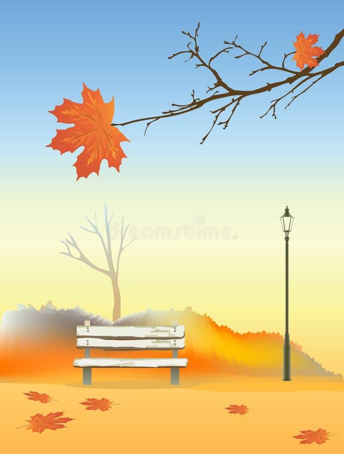 Het park van de herfst royalty-vrije illustratie