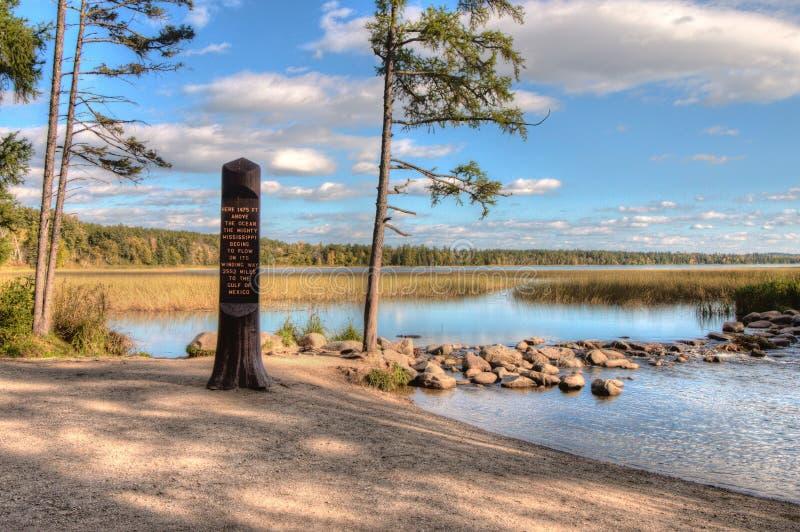 Het Park van de Itascastaat bevat de Bovenloop van de Mississippi Riv royalty-vrije stock fotografie