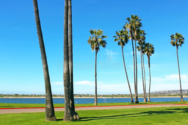 Het Park van de opdrachtbaai, San Diego, Californië stock foto