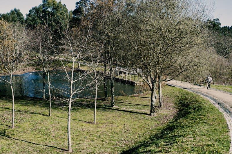Het park van de Outddorvrije tijd in Maia Portugal stock fotografie