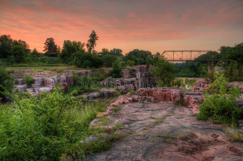 Het Park van de palissadenstaat is in Zuid-Dakota door Garretson stock afbeelding