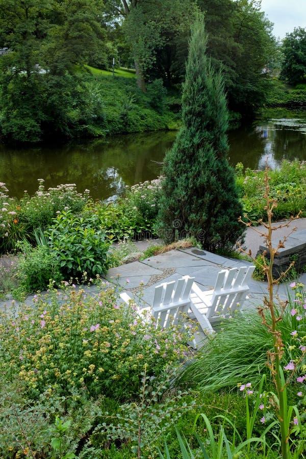 Het park van de Plantenv.n. Blomen in Hamburg stock fotografie