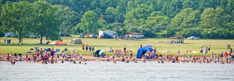 Het Park van de Staat van de Kreek van Caesar Ohio 2010 stock foto's