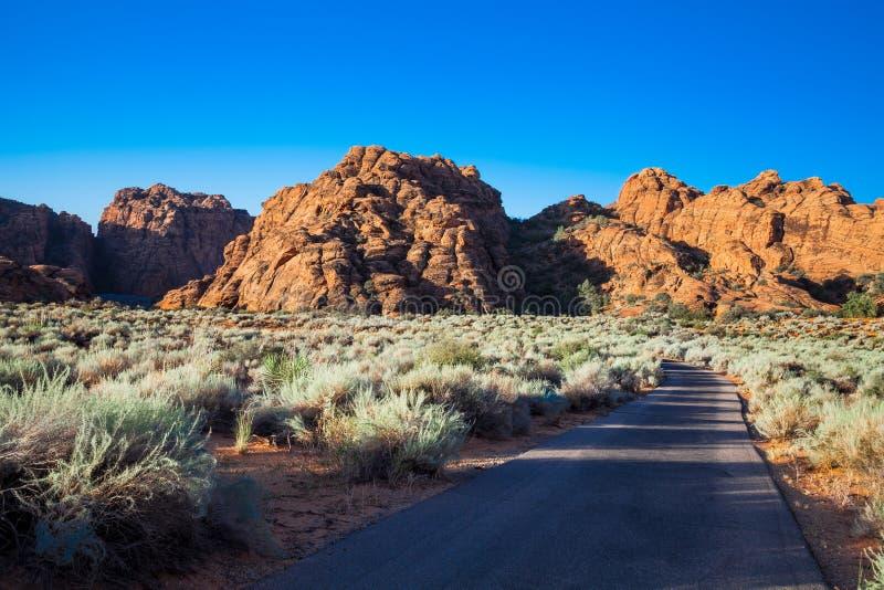 Het Park van de Staat van de sneeuwcanion - Ivins - Utah stock foto's