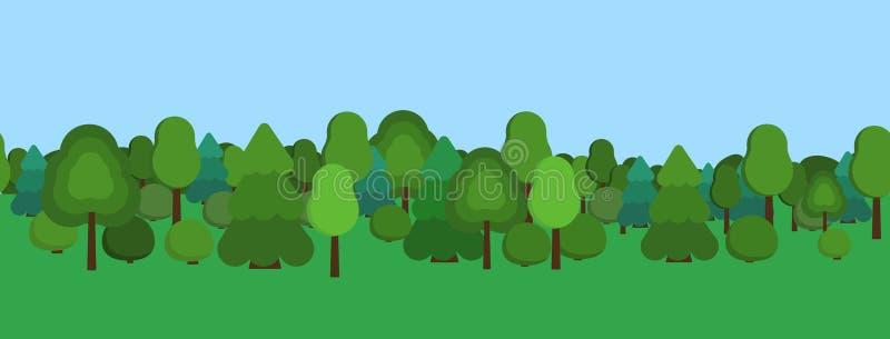Het park van de stad stock illustratie