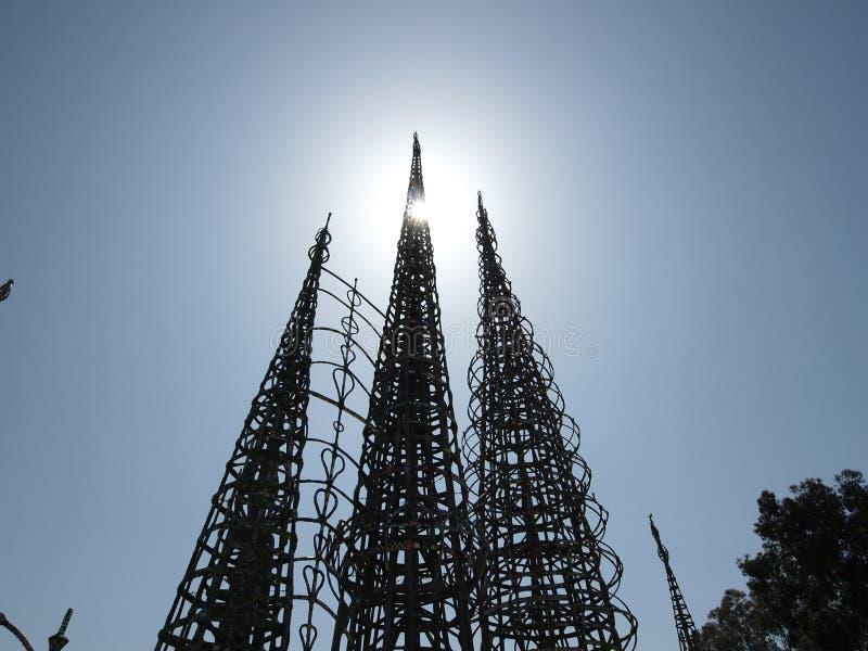 Het Park van de Toren van watts stock foto