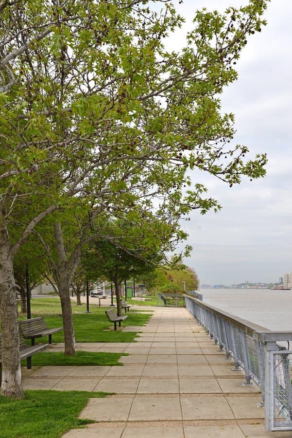 Het Park van de Waterkant van het westenharlem De Stad van New York, Verenigde Staten stock foto's