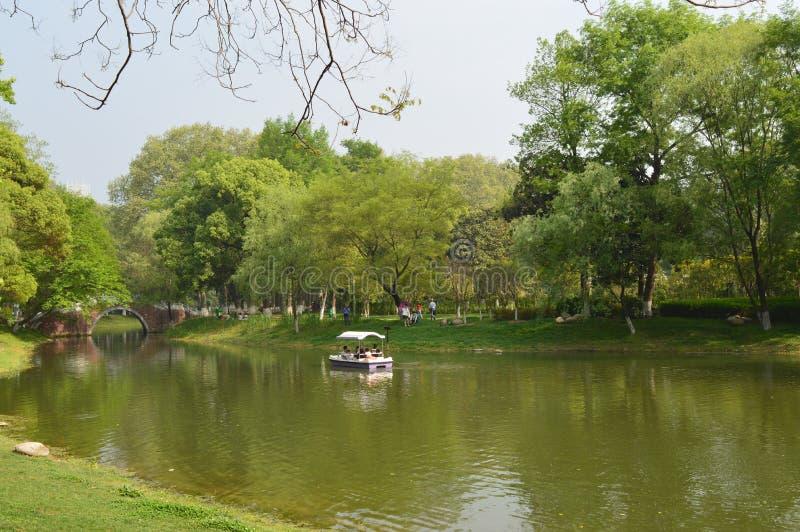 Het Park van de Wuhanbevrijding stock foto