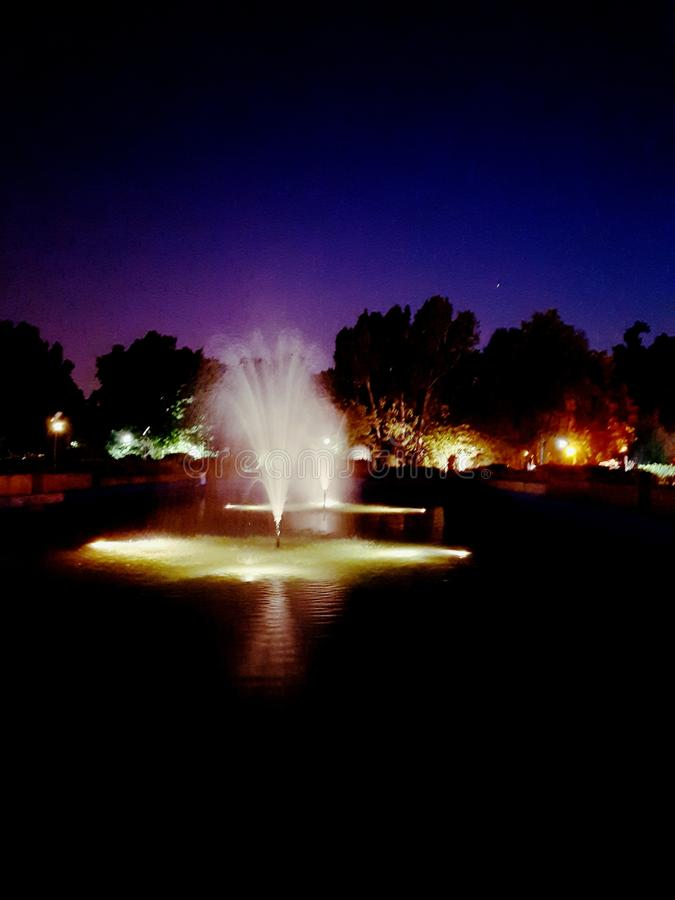 Het Park van fonteinherastrau stock foto's