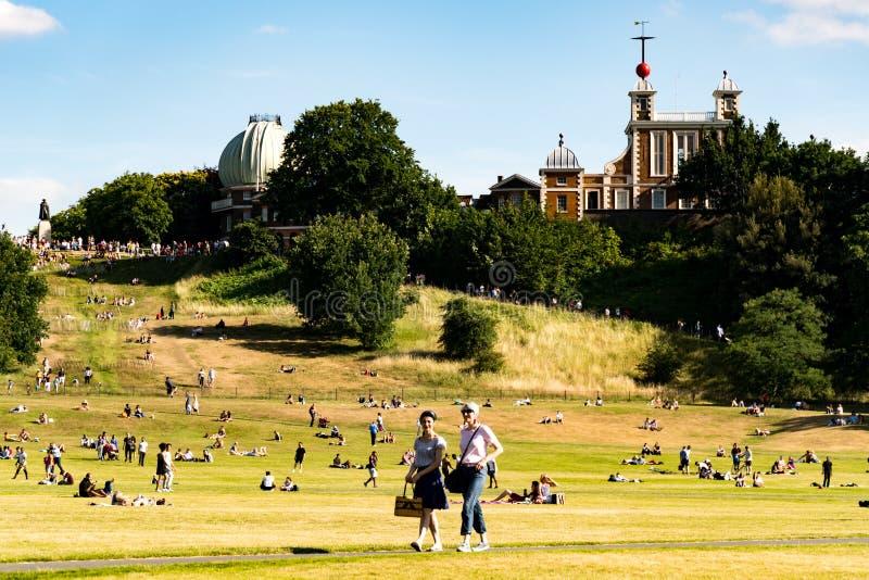 Het Park van Greenwich in Londen stock foto