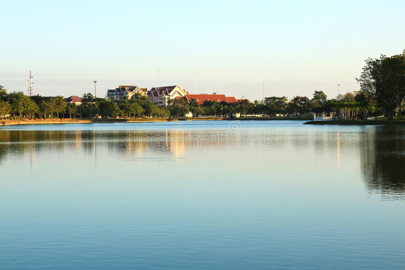 Het park van grote provincies is beroemd bij zonsondergang royalty-vrije stock fotografie