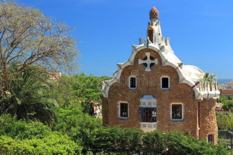 Het park van Guell in Barcelona stock afbeelding