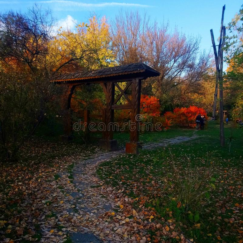 Het park van Herastrau stock foto