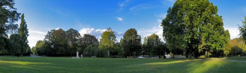 Het park van het panorama stock fotografie