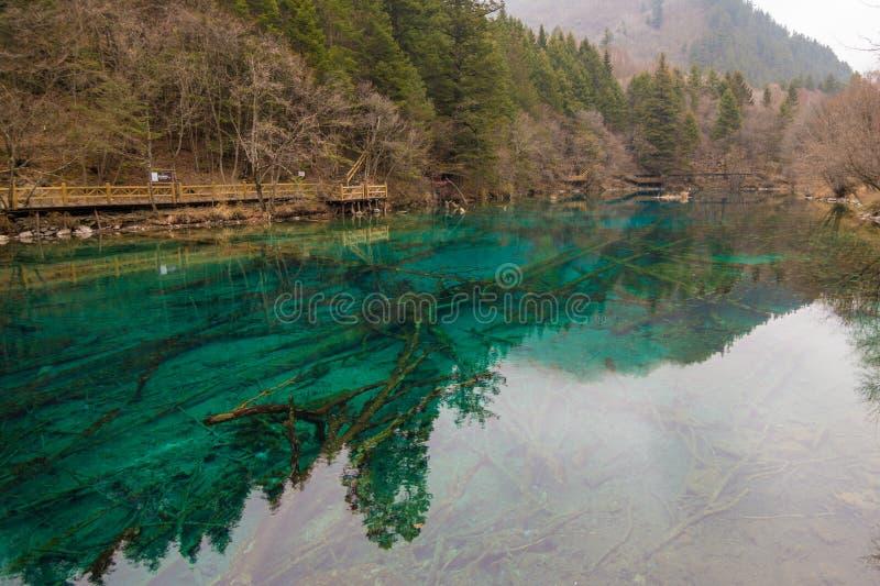 Het park van meerjiuzhaigou royalty-vrije stock foto