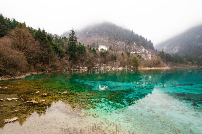 Het park van meerjiuzhaigou stock foto's
